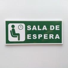 Placa Sala de Espera