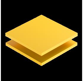 Placa 25 x 67,5 cm de PVC Amarelo 3 mm