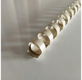 Argola Branca 15mm / lombada plástica 21 anéis redondos
