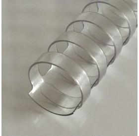 Argola Transparente 12mm / lombada plástica 21 anéis redondos