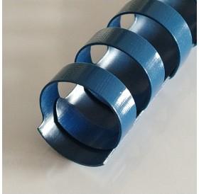 Argola Azul 15mm / lombada plástica 21 anéis redondos