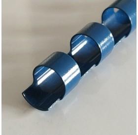 Argola Azul 6mm / lombada plástica 21 anéis redondos