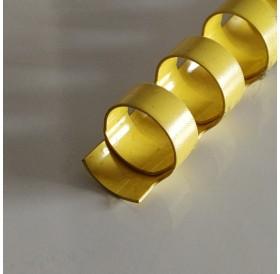 Argola Amarela 10mm / lombada plástica 21 anéis redondos