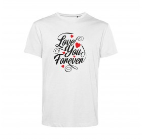 "T-Shirt Branca ""Love you forever"""