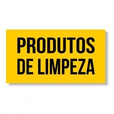 """Autocolante """"Produtos de Limpeza"""" Amarelo"""