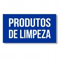 """Autocolante """"Produtos de Limpeza"""" Azul"""