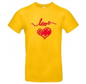 """T-Shirt Amarela """"Love"""" com OFERTA DE OUTRA!"""