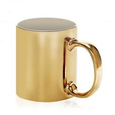 Caneca Dourada de cerâmica brilhante