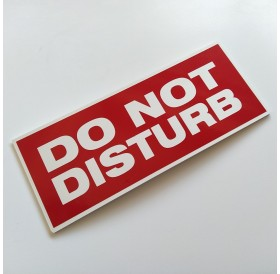 "Placa ""Do Not Disturb"""