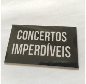 """Magnético """"Concertos Imperdíveis"""" Preto"""