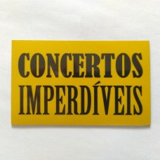 "Magnético ""Concertos Imperdíveis"" Amarelo"