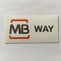 Autocolante MB Way Médio