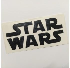"Autocolante ""Star Wars"" em vinil preto recortado"