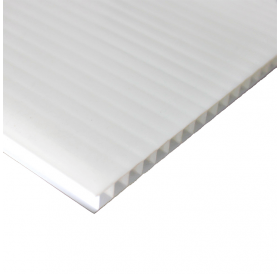 Placa de Polipropileno Alveolar Branco 2,5 mm 30,5 x 92 cm