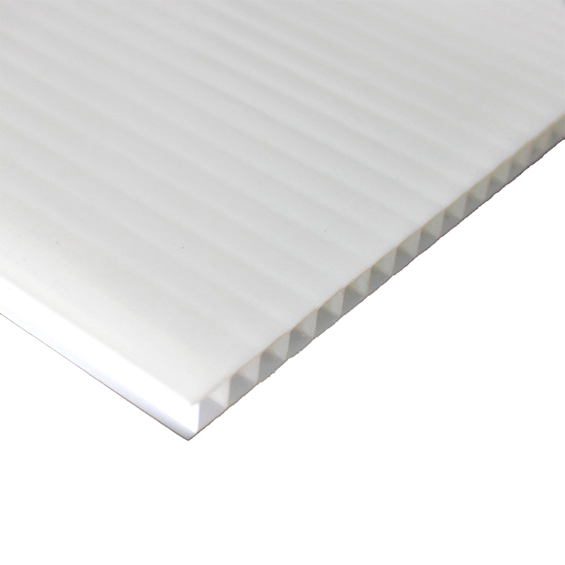 Placa De Polipropileno Alveolar Branco 10 mm - 236 X 47 Cm