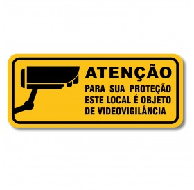 """Placa """"Atenção Videovigilância"""""""