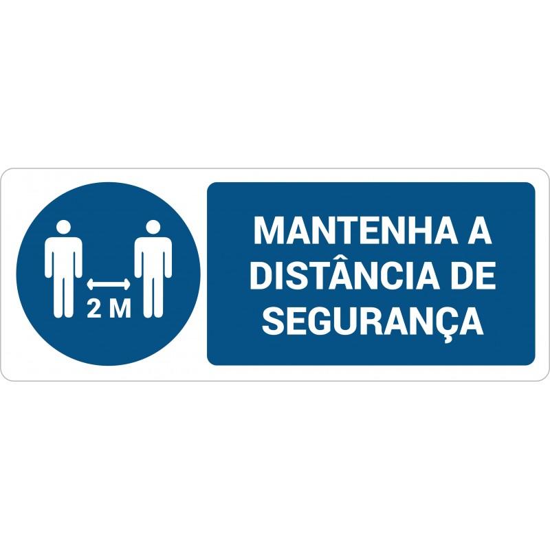 """Autocolante """"Mantenha a distância de segurança"""""""