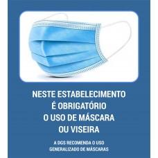 Obrigatório o uso de máscara - Aviso